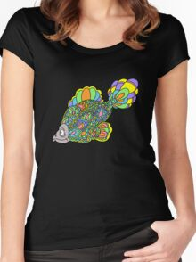 Psychedelic Fish Women's Fitted Scoop T-Shirt