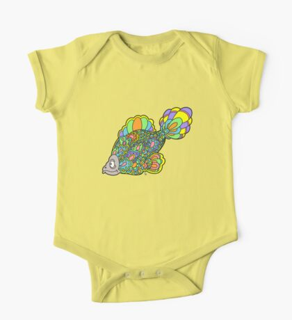 Psychedelic Fish One Piece - Short Sleeve