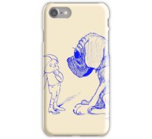 Who let the dog out, blue iPhone Case/Skin