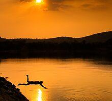 summer swim by Dinni H
