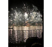 Fireworks - Reflections on the Lake Photographic Print