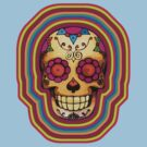 Technicolour Skull by TeeArt