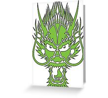 angry dragon Greeting Card