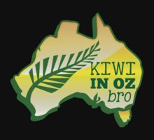 KIWI in OZ BRO! (Australia) Aussie map by jazzydevil