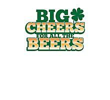 BIG CHEERS FOR ALL THE BEERS! IRISH beer shop design Photographic Print