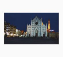 Blue Hour - Santa Croce Church, Florence, Italy Kids Clothes