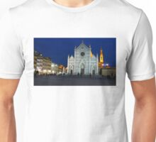 Blue Hour - Santa Croce Church, Florence, Italy Unisex T-Shirt