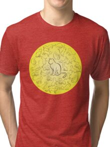 Cat activity sketch Tri-blend T-Shirt