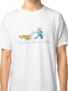 Picasso Walks His Dog Classic T-Shirt