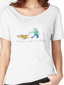 Picasso Walks His Dog Women's Relaxed Fit T-Shirt