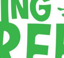 BEING GREEN frog  Sticker