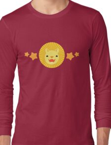 Cute lion with orange stars Long Sleeve T-Shirt
