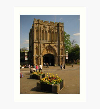The Abbey Gate, Bury St Edmunds, Suffolk Art Print