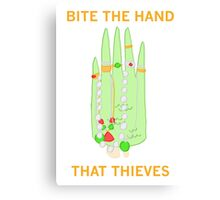 Bite The Hand That Thieves Canvas Print