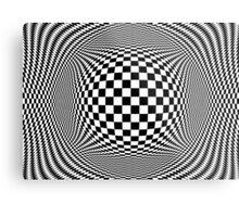 Optical Illusion Checkers  Metal Print