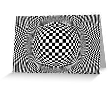 Optical Illusion Checkers  Greeting Card