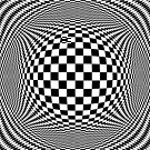 Optical Illusion Checkers  by Kitty Bitty