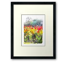 the park Framed Print