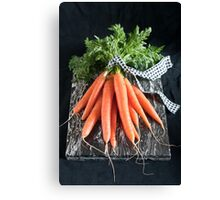 Carrots on Black Canvas Print