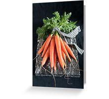 Carrots on Black Greeting Card