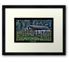A Grungy Shed Framed Print