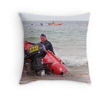 Racing at Penguin (73) Throw Pillow