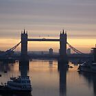 sunrise over tower of london by gyspysoul