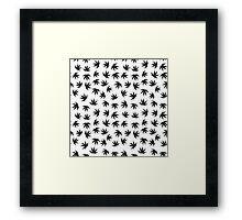 Marijuana pattern Framed Print