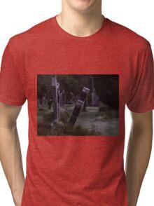 Tilted Gravestone Tri-blend T-Shirt