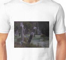 Tilted Gravestone Unisex T-Shirt