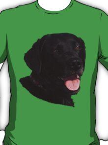 Labrador Retriever Head (Black) T-Shirt