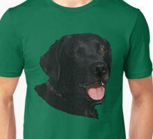 Labrador Retriever Head (Black) Unisex T-Shirt