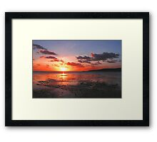 The End of a Day © Framed Print