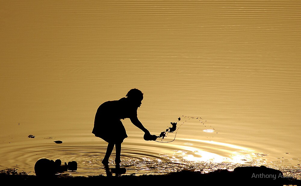 Sunrise on the Niger River (Mali) by Anthony Asael