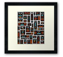 Crazy Robot Friends Framed Print