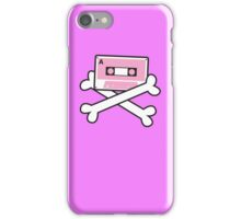 RETRO Cassette tape with pirate crossbones iPhone Case/Skin