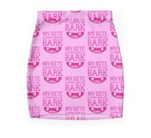 MY BITE is worse than my BARK funny cat or dog design Mini Skirt