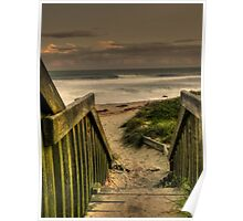 Old Bar beach walkway Poster