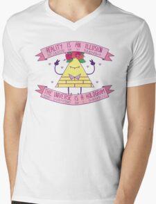 Flower Crown Bill Mens V-Neck T-Shirt