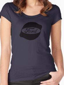 Ford Lemon Car or Truck - Black Women's Fitted Scoop T-Shirt