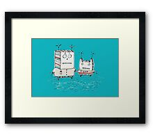 Robots at the Beach  Framed Print