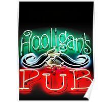 Hooligans Pub Poster