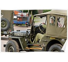 Jeeps at World War 2 re-enactment Poster