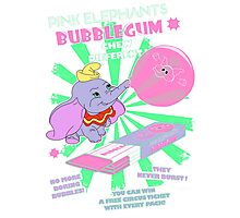 Pink Elephants Bubblegum Photographic Print