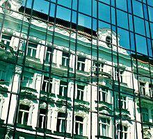 Reflections of prague by megative