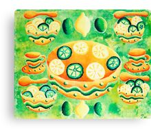 Lemons and Limes with Bowls Canvas Print