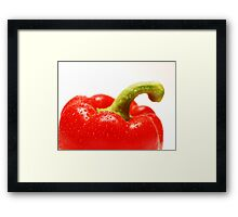 Red pepper Framed Print