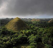 Chocolate hills, Bohol, Philippines by Tim Edmonds