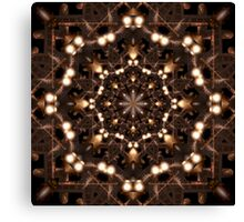 Dimensional Fold Glow Tower Step Zone X3 Canvas Print