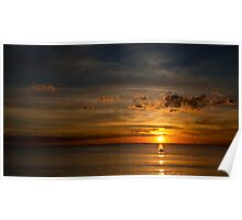 Sunset from Safety Beach, VIC Poster
